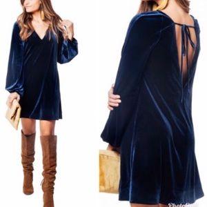 NWT Free People Misha Velvet Mini Dress